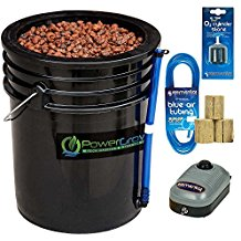 Deep Water Culture (DWC) Hydroponic Bucket Kit 5 Gallon, 10 inch