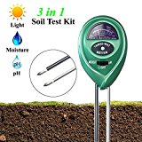 Soil pH Meter, XIYIXIFI 3 in 1 Soil Test Kit for Moisture