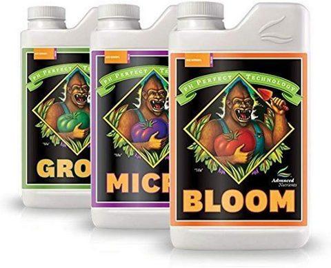 Advanced Nutrients Bloom, Micro & Grow, Pack