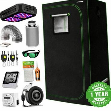 VIVOSUN 2x2x4 Indoor Grow Tent Complete Beginner Kit