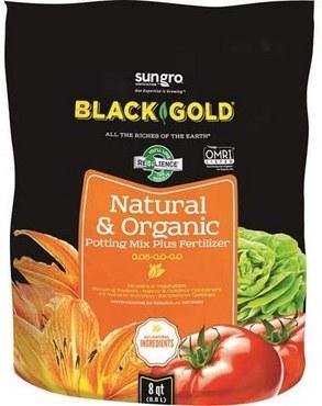 Black Gold 8-Quart All Organic Potting Soil